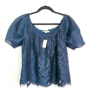 Anthro Moulinette Souers Messina Lace Top Small